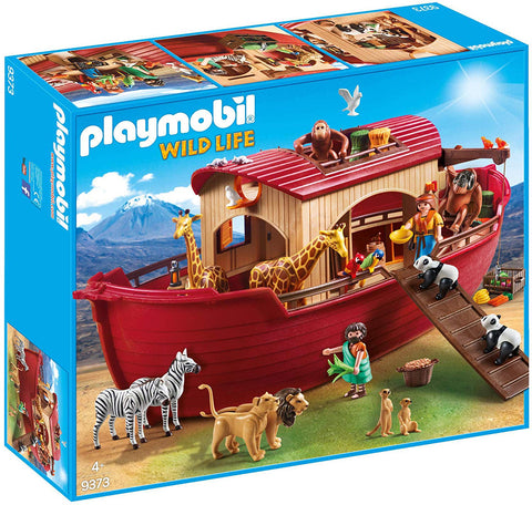 PLAYMOBIL 9373 WILDLIFE Noah's Ark set - RARE!