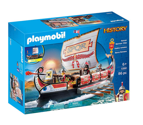 PLAYMOBIL 5390 HISTORY Roman Warriors' Ship