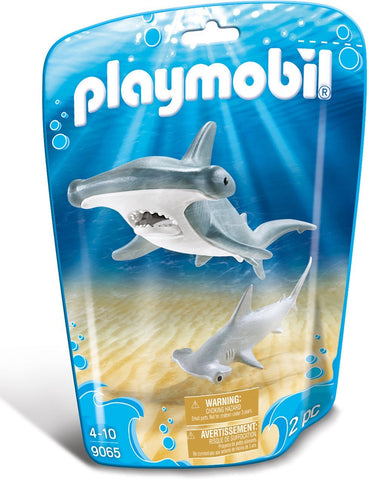 PLAYMOBIL 9065 AQUARIUM Hammerhead Shark with Baby