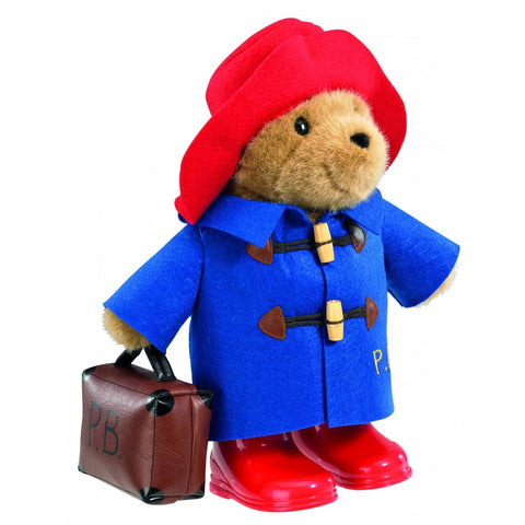 PADDINGTON BEAR Large with Boots, Jacket & Suitcase