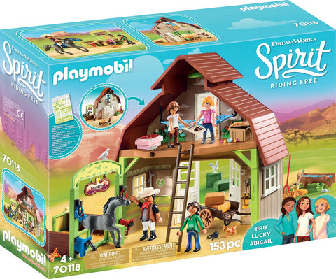 PLAYMOBIL 70118 SPIRIT RIDING FREE Barn with Lucky, Pru & Abigail set