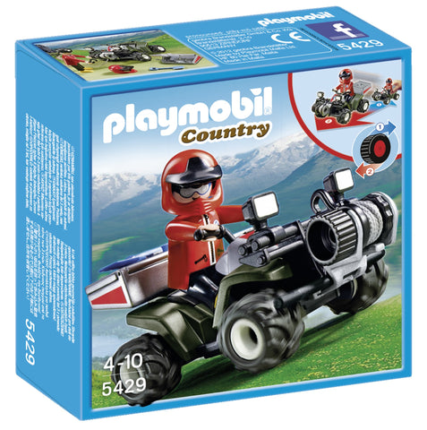 PLAYMOBIL 5429 Mountain Rescue Quad Bike