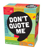 DON'T QUOTE ME board game