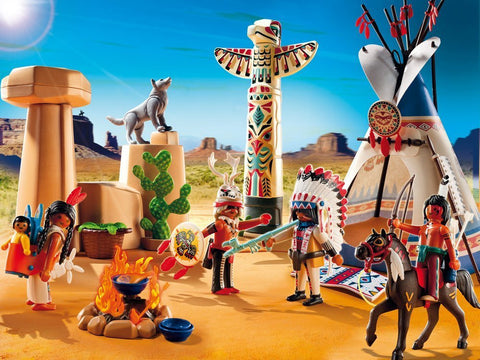 PLAYMOBIL 5247 Native American Camp with Totem Pole