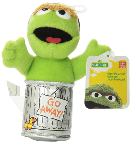Sesame Street OSCAR THE GROUCH 13cm beanie plush