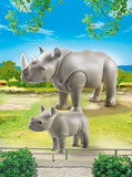 PLAYMOBIL 6638 ZOO Rhino with Baby