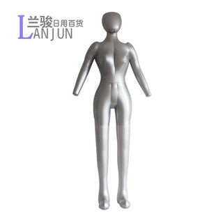 Inflatable Female Full Body Dress Form Mannequin Torso Dummy Model Fashion Dress Display