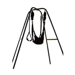 Heavy Duty Porch Indoor Swing Stand w/ Toughage J410 Yoga Bungee Swing Compatible to All Indoor Swings