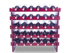 Solid Wood Wine Rack Modular Expandable Stackable Wine Storage Display Shelves
