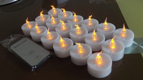 LED Battery-operated Warm Yellow Flameless Tealight Candle