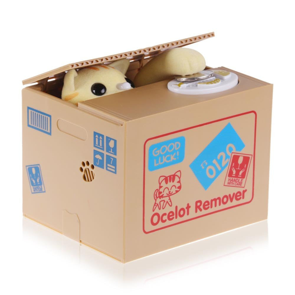 Shine Itazura Stealing Coin Cat Bank