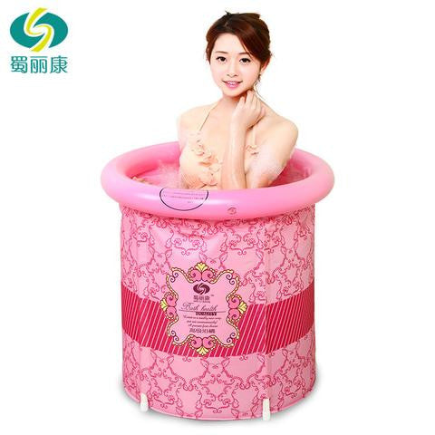 Folding Bathtub, Inflatable Portable Plastic Spa Massage Bathtub, Bath tub