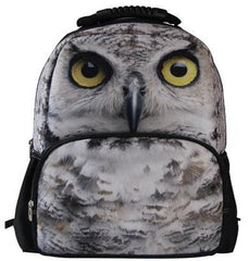 Animal Face 3D Owl Paint Backpack