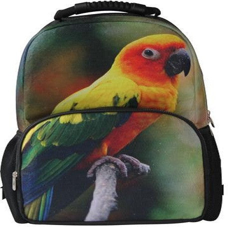 Animal Face 3D Parrot Bird Backpack