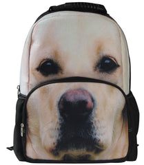 Animal Face 3D Yellow Lab Puppy Backpack