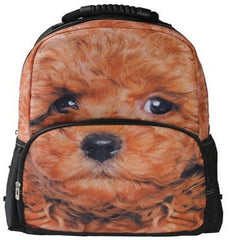 Animal Face 3D Poodle Paint Backpack