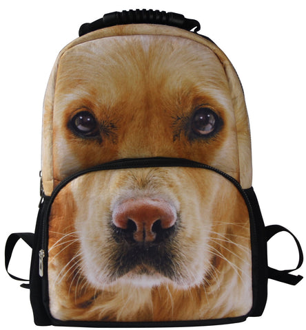 AnimalFace 3D Golden Puppy Backpack