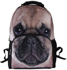 Animal Face 3D Pug Dog Paint Backpack