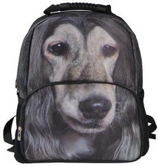 AnimalFace 3D Afghan Hound Backpack,