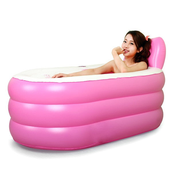 fashion adult spa inflatable bath tub with electric air pump portable back to 20s. Black Bedroom Furniture Sets. Home Design Ideas
