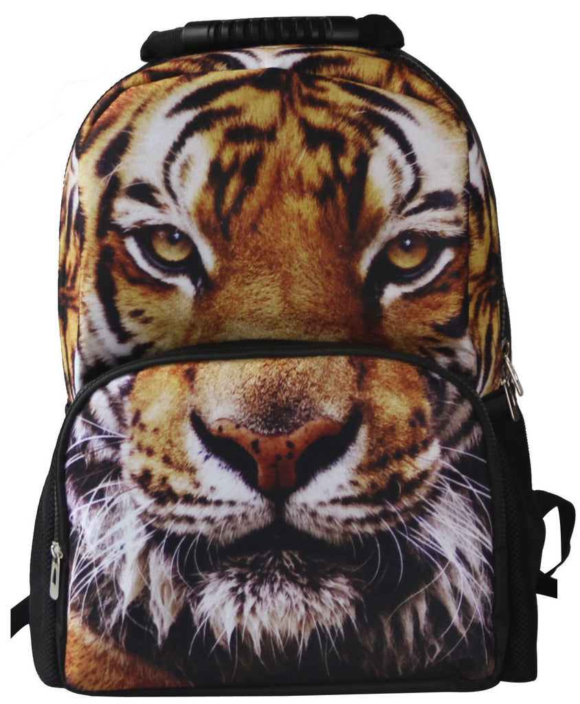 Animal Face 3D Tiger 2 Paint Backpack