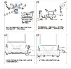 Luxury Ipad Pro Tablet Laptop Floor Stand Height Adjusting 360 Rotate swivel L arm for bedside, floor, sofa, bed Iphone Sumsung Ipad pro