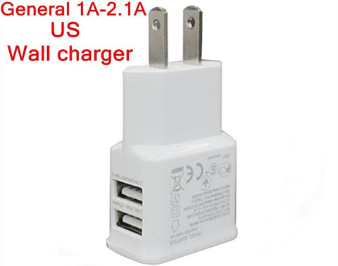 US Double USB mobile phone charger Wall Adapter Charger Travel 5V 2.1A For Ga...