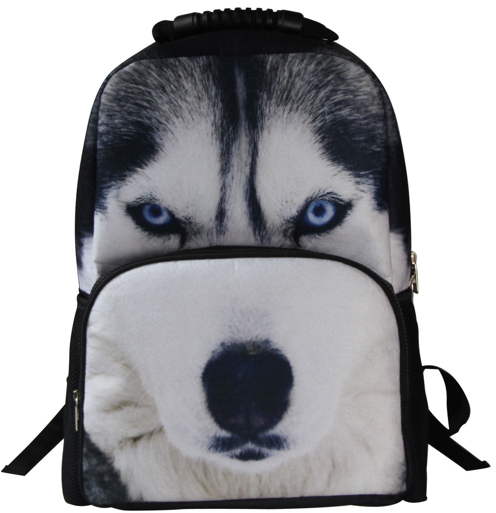Animal Face 3D Paint Wolf Backpack