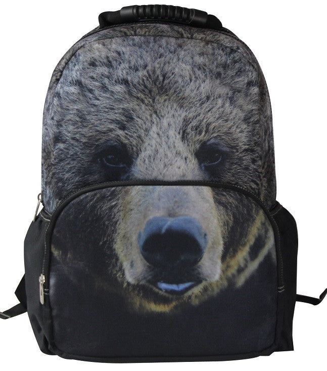 AnimalFace 3D bear Paint Backpack