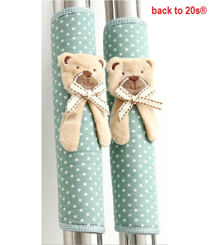 Twin Pack Refrigerator Handle Covers (bear pink or blue)