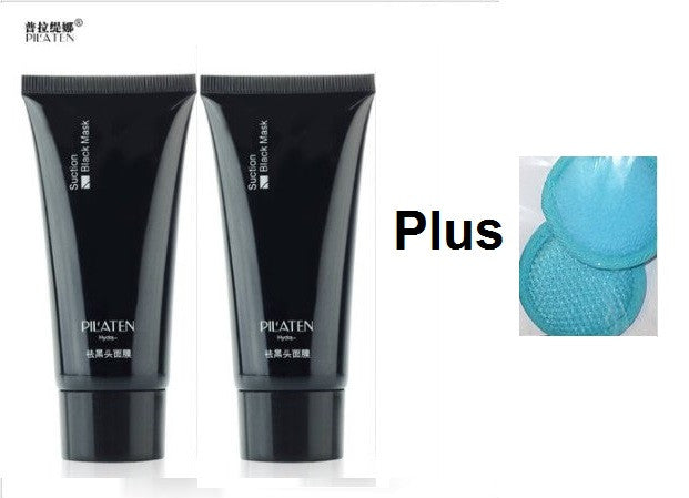 Pilaten Blackhead Remover Deep Cleansing Face Mask(60g) Plus Microfiber Facial Scrubber(2-Pack)