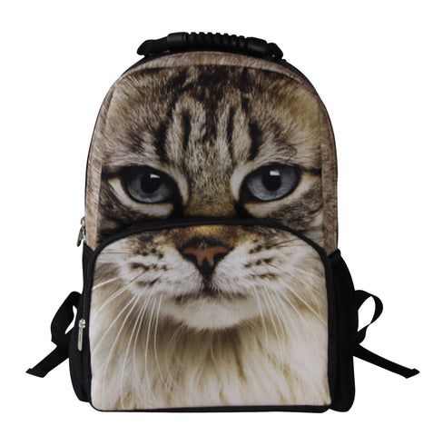 AnimalFace 3D Cat Paint Backpack