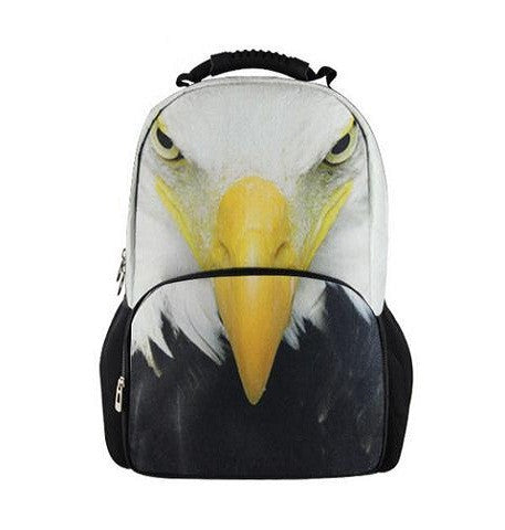 Animal Face 3D Eagle Paint Backpack
