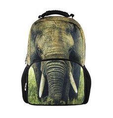 Animal Face 3D Elephant Paint Backpack