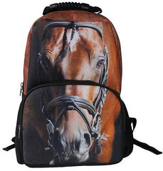 Animal Face 3D horse Paint Backpack