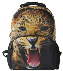 AnimalFace 3D Leopard Paint Backpack