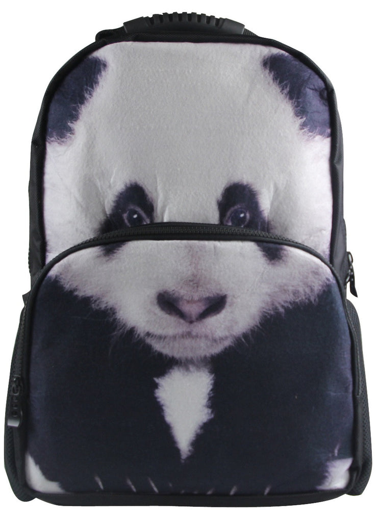 Animal Face 3D Panda Paint Backpack