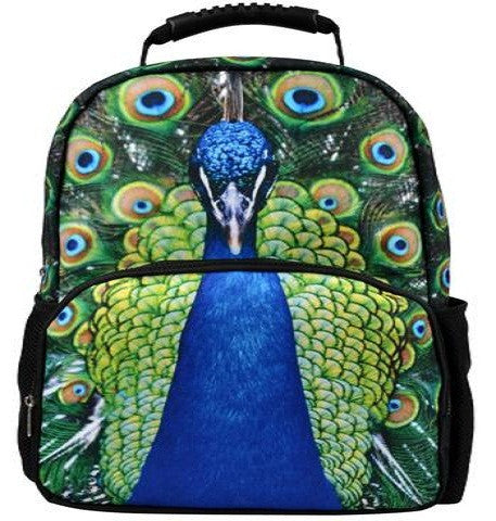 Animal FaceTM 3D Animals Peacock Backpack Deep 3D Stereography Felt Fabric