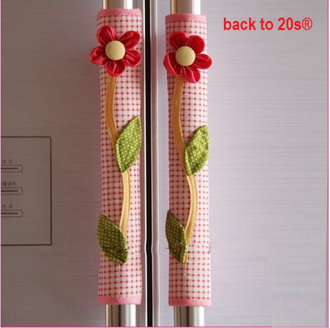 Twin Pack Refrigerator Handle Covers (red dot)