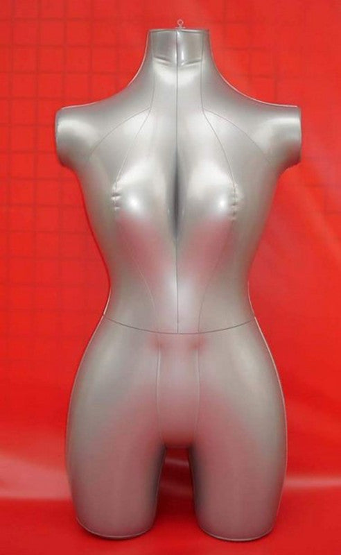 New Female 3/4 Body Inflatable Mannequin Torso Dummy Model Dress Fashion Display