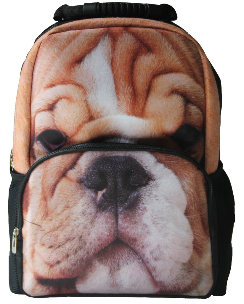 AnimalFace 3D Bull Dog Paint Backpack