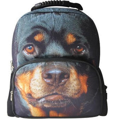Animal Face 3D Rottweiler Puppy Backpack