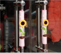 Twin Pack Refrigerator Handle Covers (sunflower)