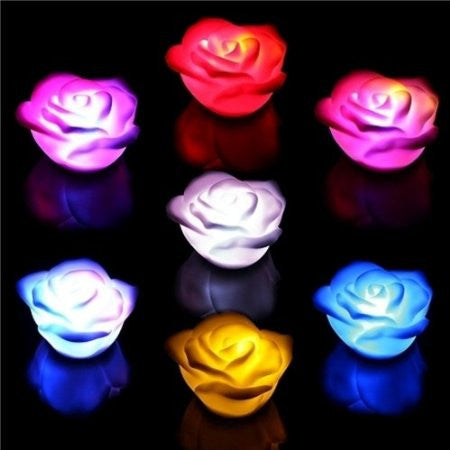 LED Rose Light , Multi Color Changing LED Lights