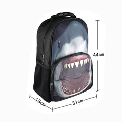 Animal Face 3D Shark Paint Backpack