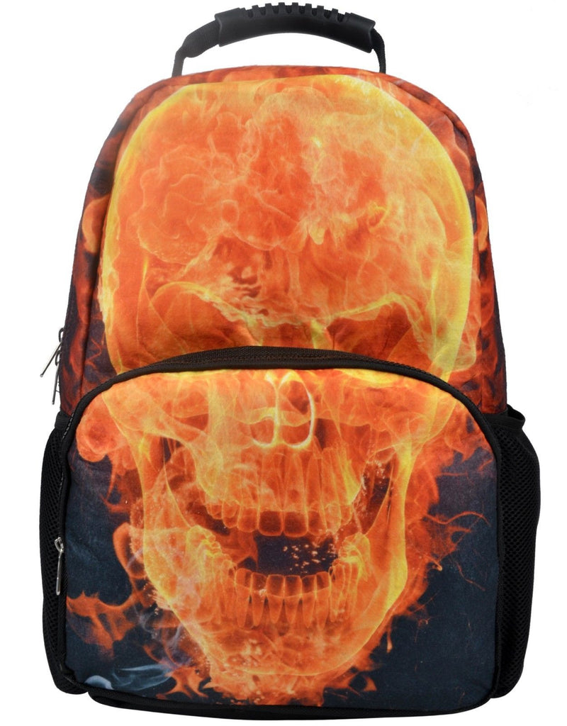 Animal FaceTM 3D Animals Skull Fire Backpack One Size Multicoloured