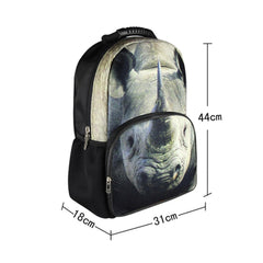 Animal Face 3D Rhinoceros Rhino Paint Backpack