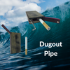 Dugout Pipes over Wave