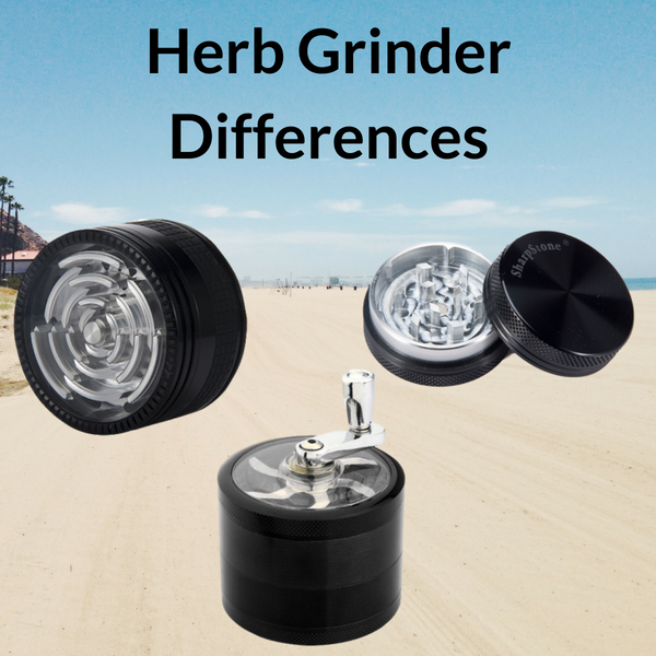 Herb Grinders on Beach