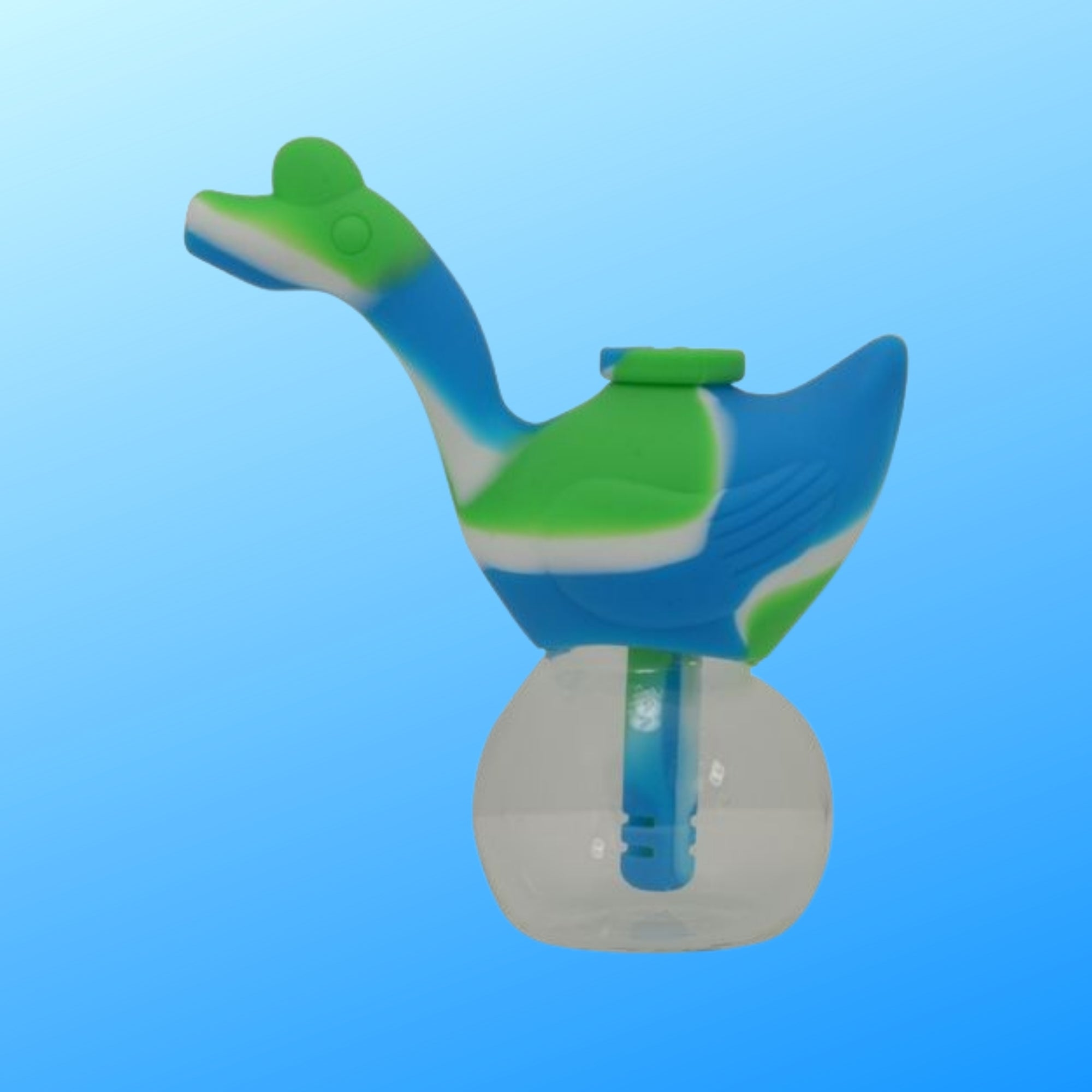 green and white silicone bubbler